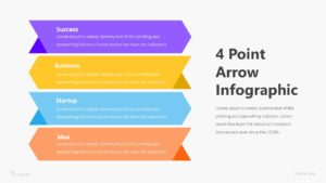 4 Point Arrow Infographic Template