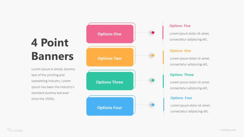 4 Point Banners Infographic Template