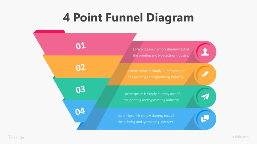 4 Point Funnel Diagram Infographic Template