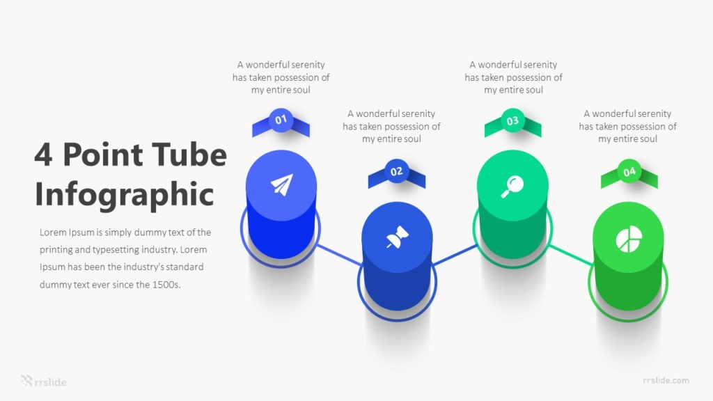 4 Point Tube Infographic Template