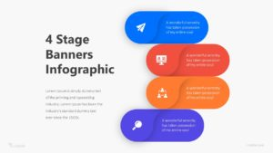 4 Stage Banners Infographic Template