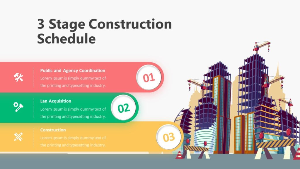 4 Stage Construction Schedule Infographic Template
