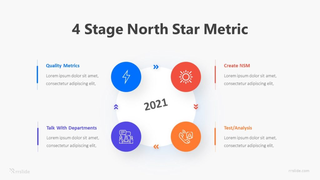 4 Stage North Star Metric Infographic Template