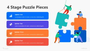 4 Stage Puzzle Pieces Infographic Template
