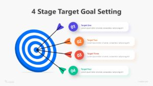 4 Stage Target Goal Setting Infographic Template