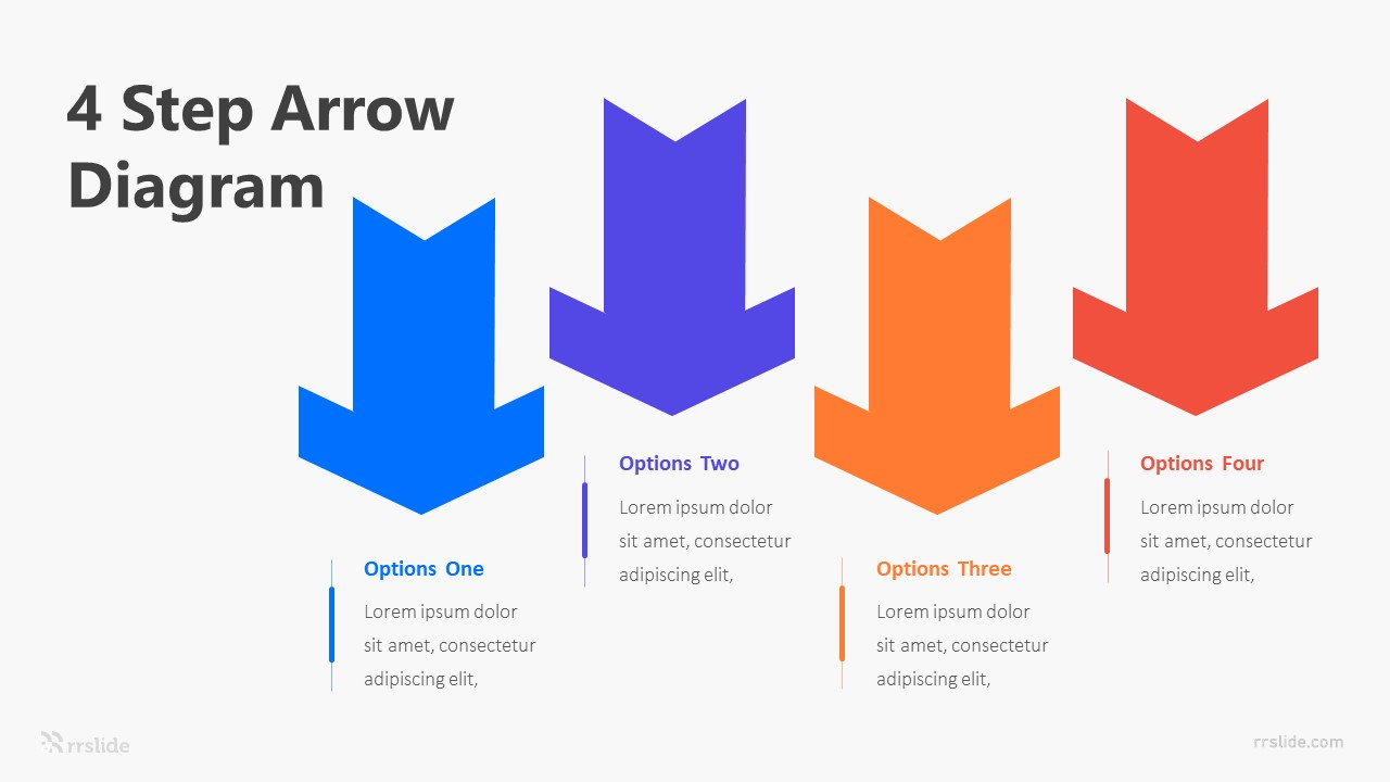 4 Step Arrow Diagram Infographic Template