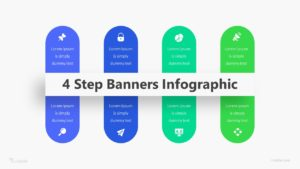 4 Step Banners Infographic Template