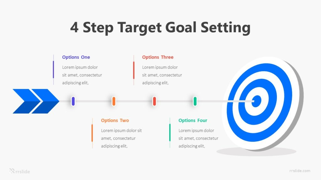 4 Step Target Goal Setting Infographic Template