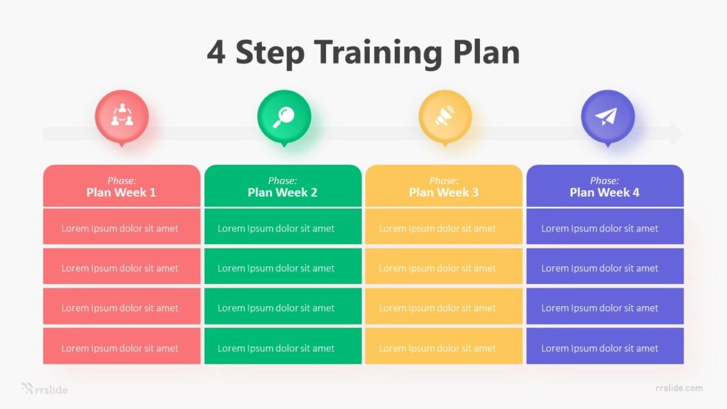 4 Step Training Plan Infographic Template