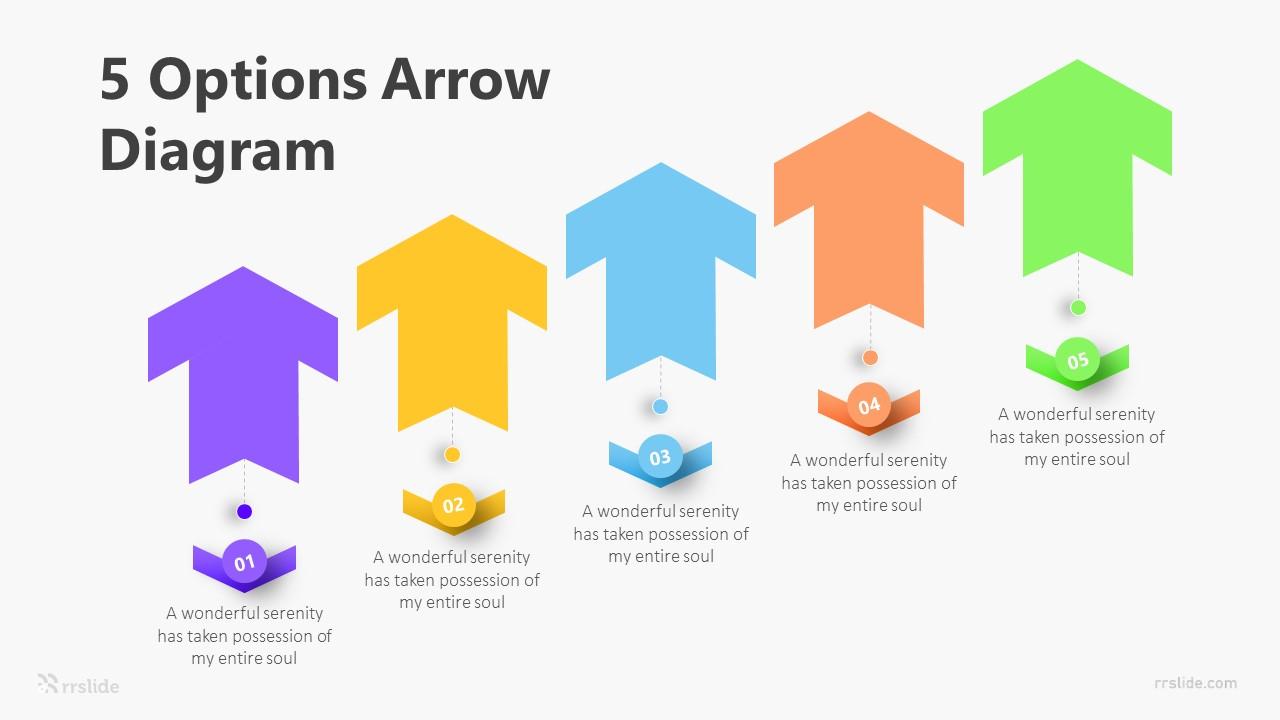 5 Options Arrow Diagram Infographic Template