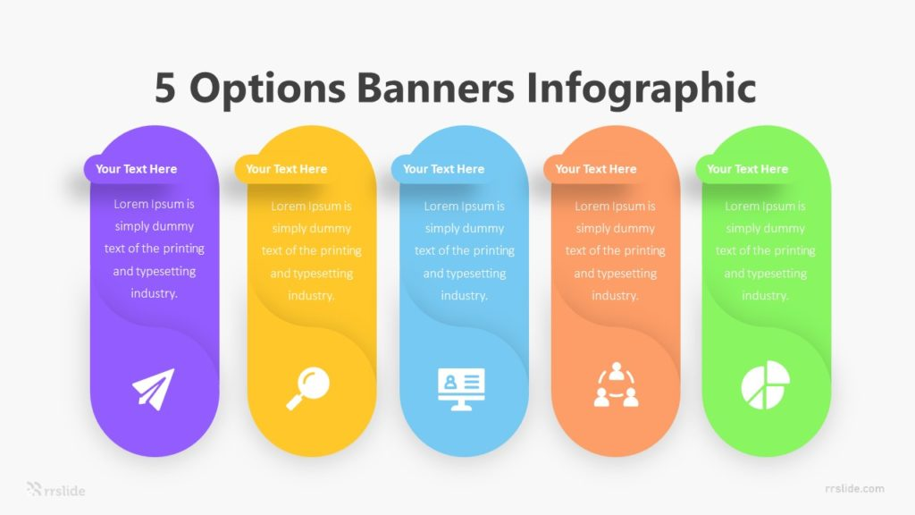 5 Options Banners Infographic Template