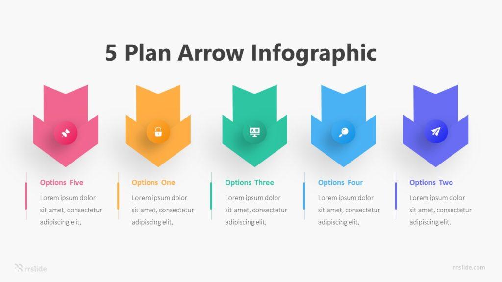 5 Plan Arrow Infographic Template