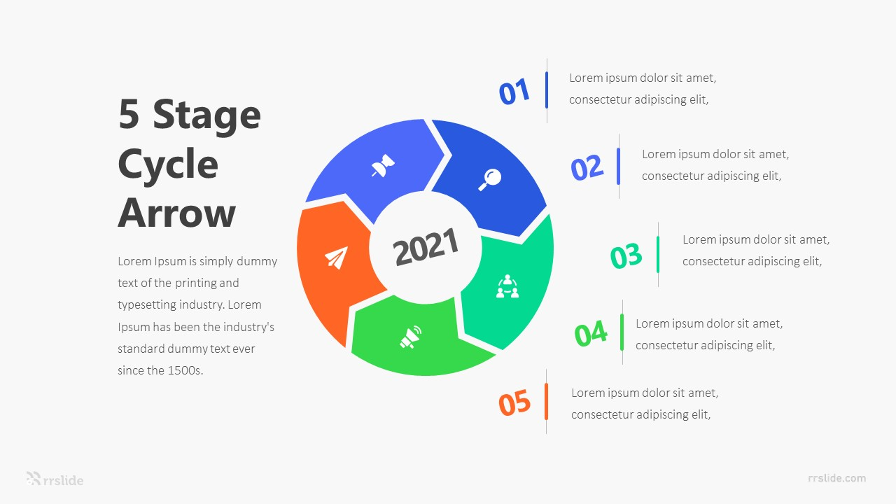 5 Stage Arrow Diagram Infographic Template