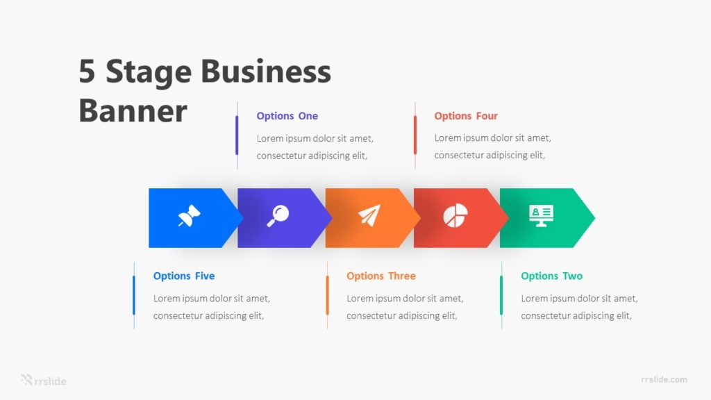5 Stage Business Banner Infographic Template