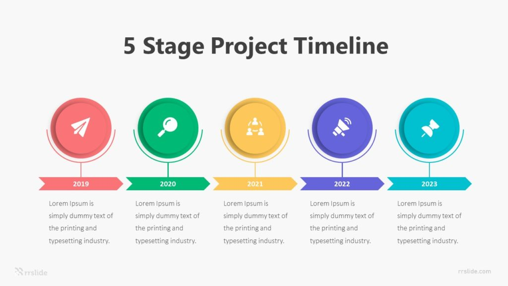 5 Stage Project Timeline Infographic Template