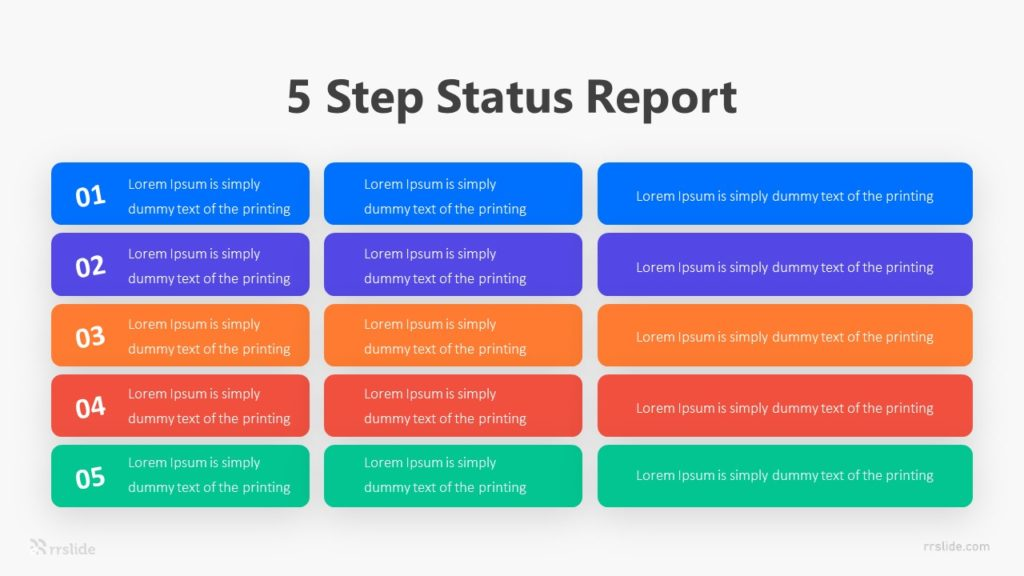 5 Step Status Report Infographic Template