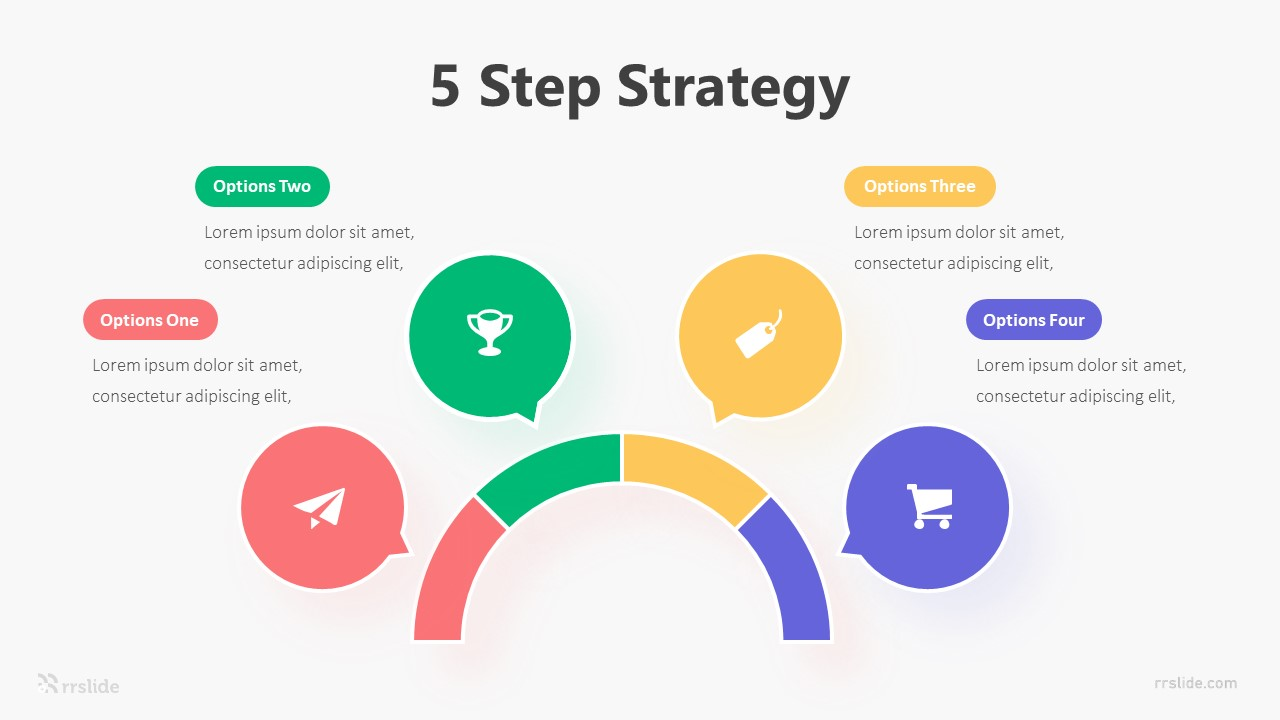 5 Step Strategy Infographic Template