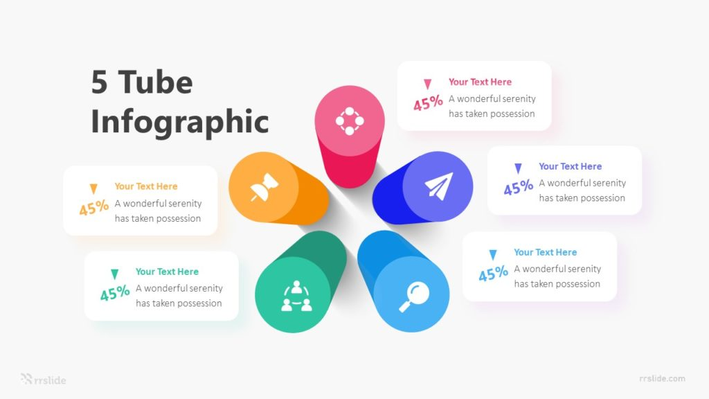 5 Tube Infographic Template
