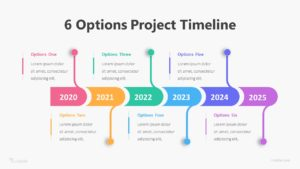 6 Options Project Timeline Infographic Template