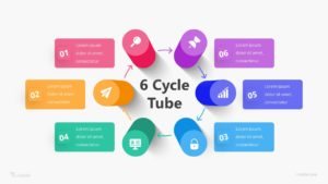 6 Options Tube Infographic Template