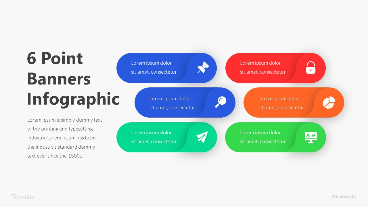 6 Point Banners Infographic Template