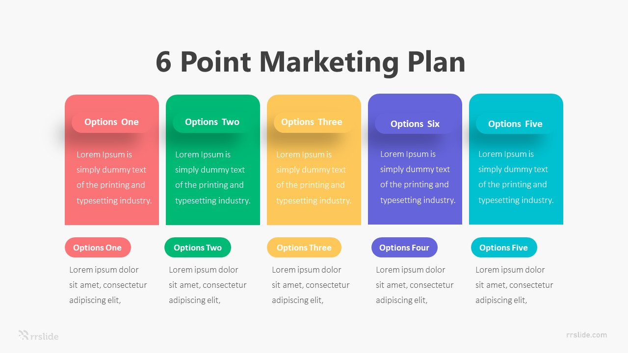 6 Point Marketing Plan Infographic Template