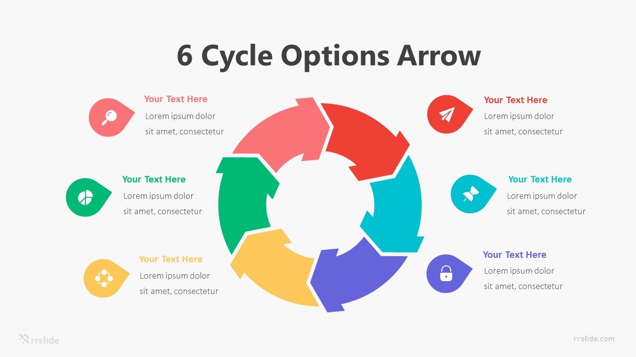 6 Stage Arrow Infographic Template