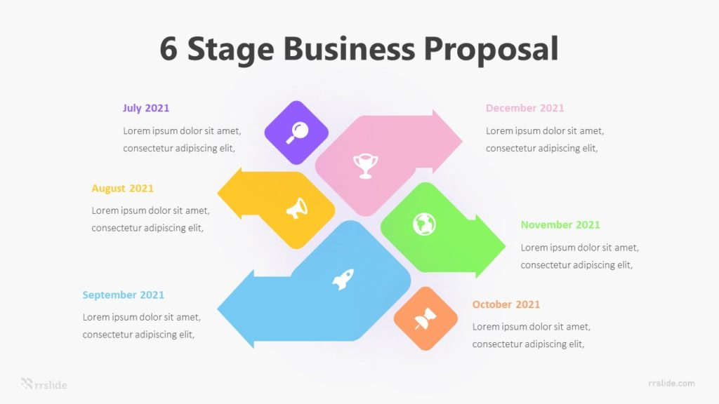 6 Stage Business Proposal Infographic Template