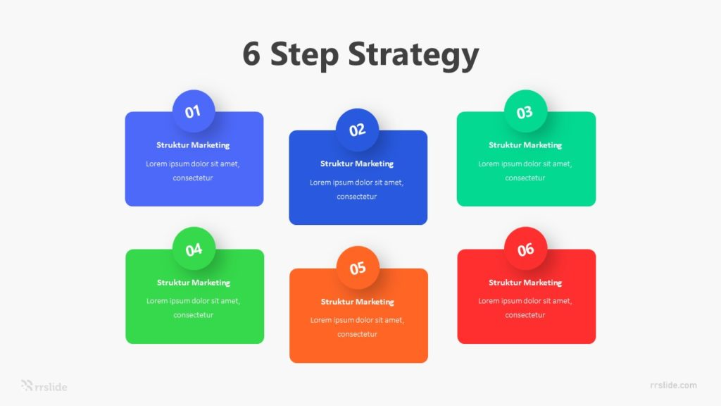 6 Step Strategy Infographic Template