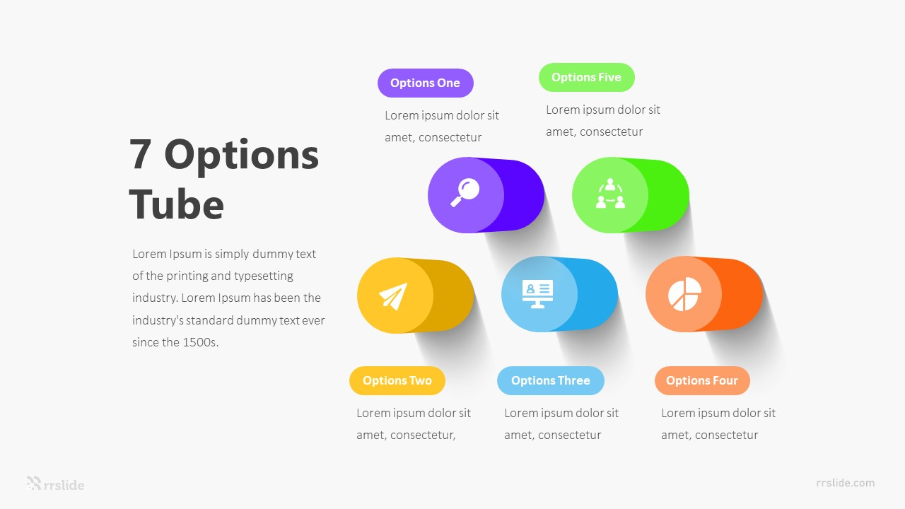 7 Options Tube Infographic Template
