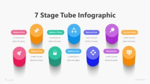 7 Stage Tube Infographic Template