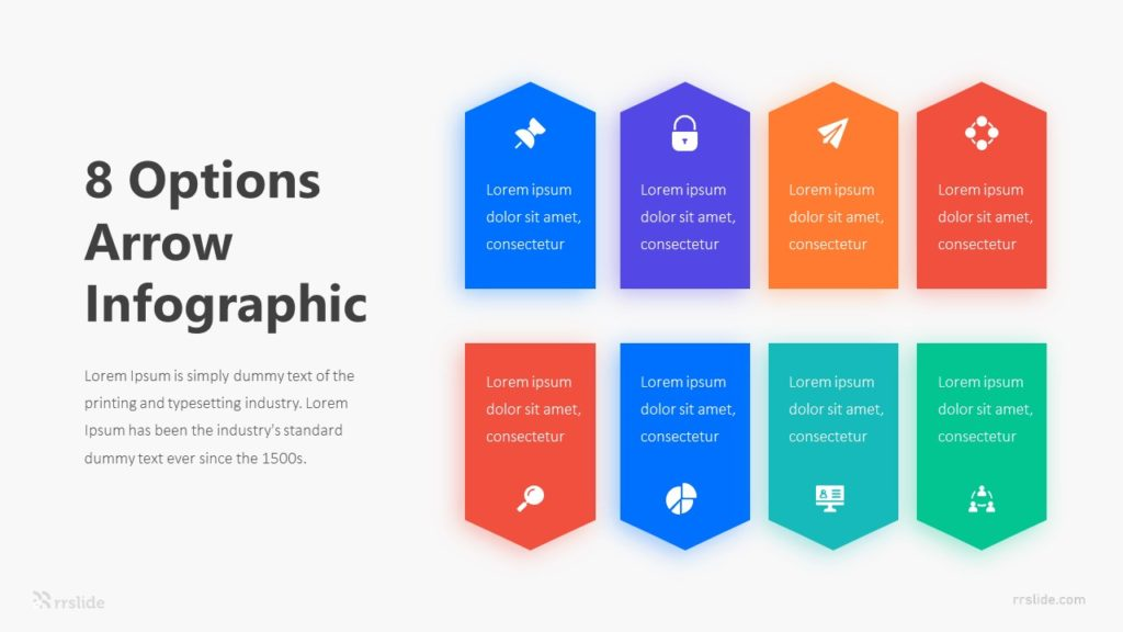 8 Options Arrow Infographic Template