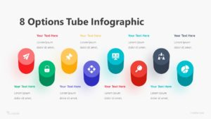 8 Options Tube Infographic Template