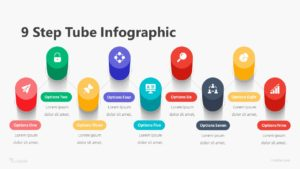 9 Step Tube Infographic Template