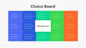 Choice Board Inforaphic Template