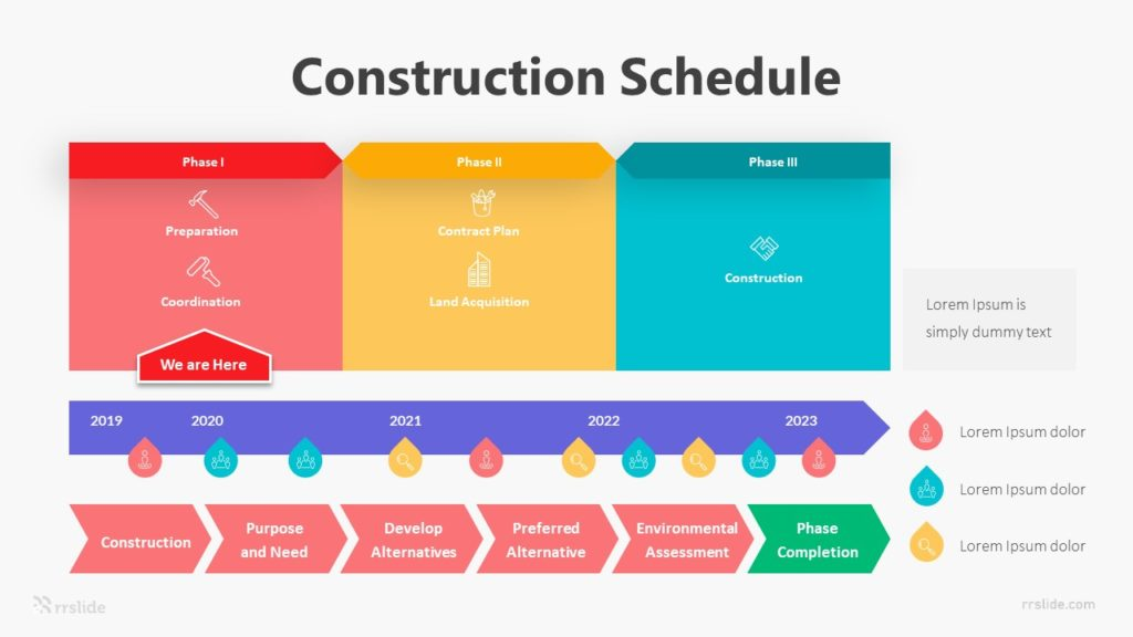 Construction Schedule Infographic Template
