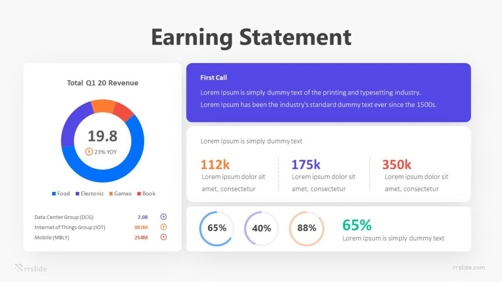 Earning Statement Infographic Template