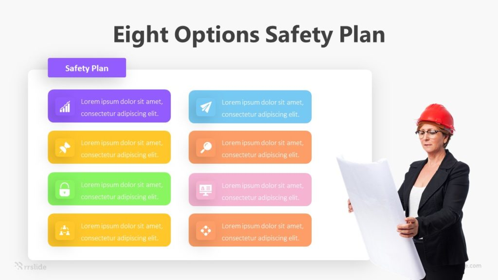 Eight Options Safety Plan Infographic Template