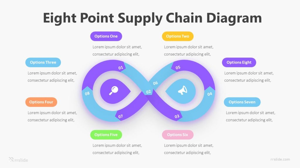 Eight Point Supply Chain Diagram Infographic Template
