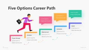 Five Options Career Path Infographic Template