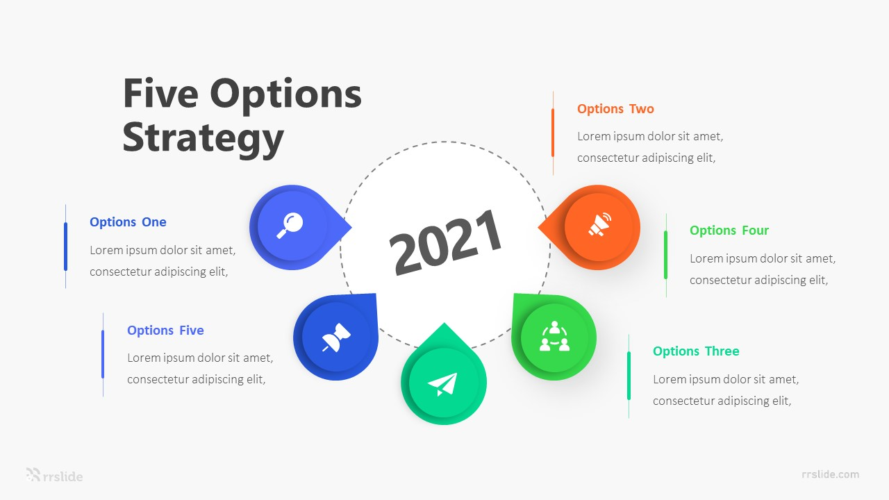 Five Options Strategy Infographic Template