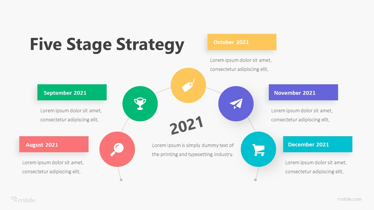 Five Stage Strategy Infographic Template