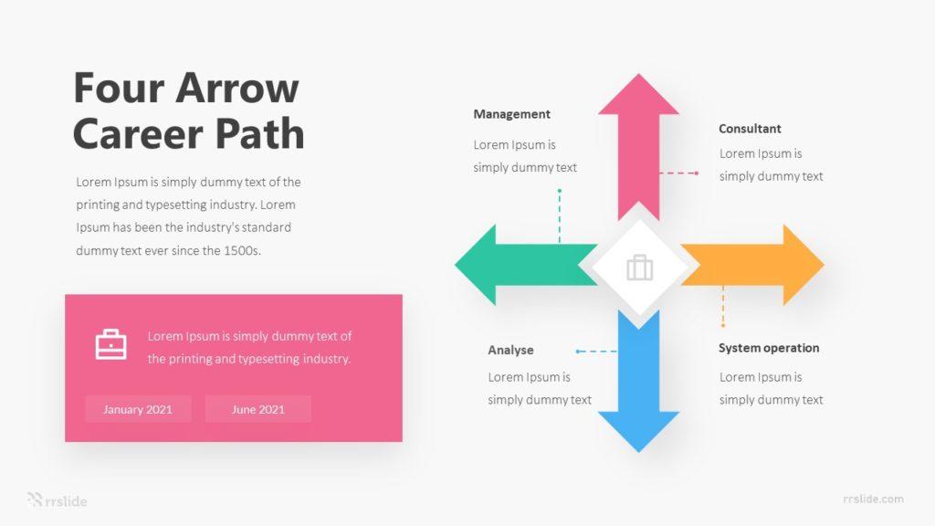 Four Arrow Career Path Infographic Template