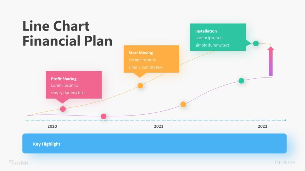 Line Chart Financial Plan Infographic Template