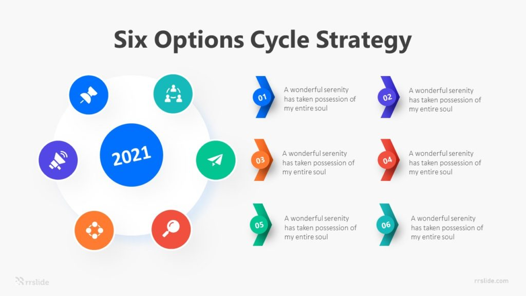 Six Options Cycle Strategy Infographic Template