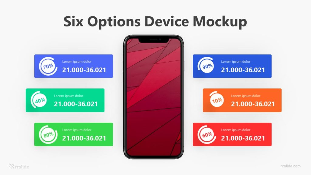 Six Options Device Mockup Infographic Template