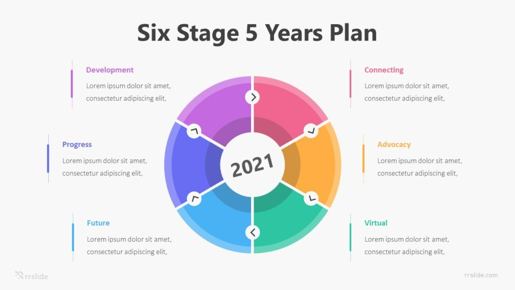 Six Stage 5 Years Plan Infographic Template