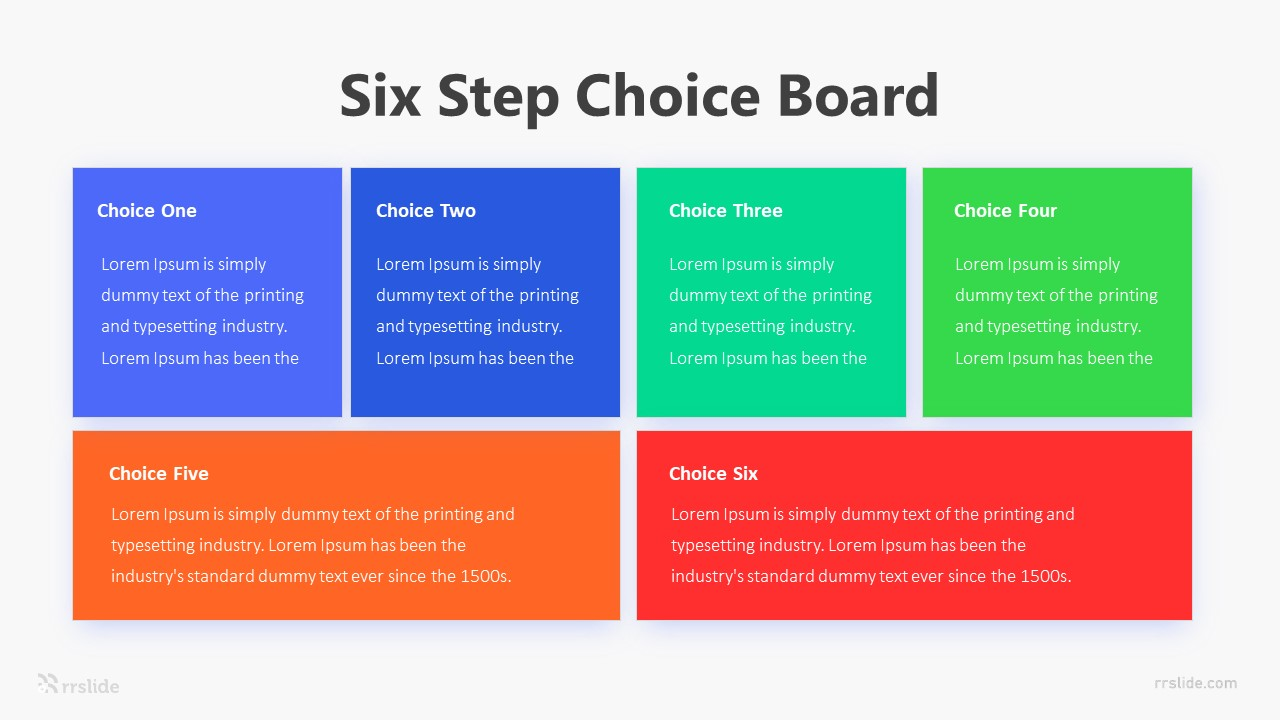 Six Step Choice Board Infographic Template
