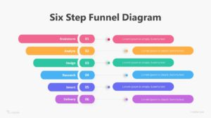 Six Step Funnel Diagram Infographic Template