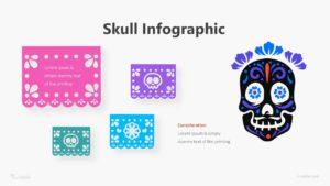 Skull Infographic Template